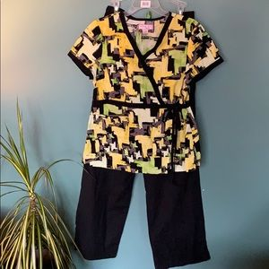 Flattering scrubs outfit